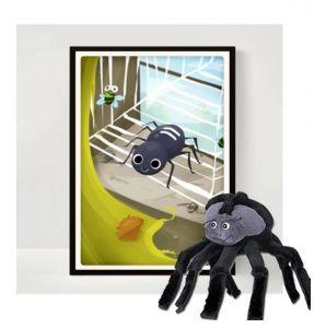Plakat med hånddukke edderkop 99-4411